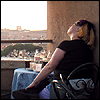 denise: Image: Me, facing away from camera, on top of the Castel Sant'Angelo in Rome (Default)