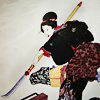 turlough: Ishi-jo wielding naginata, Japanese woodblock print  by Utagawa Kuniyoshi ((other) warrior woman)