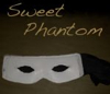 elizabethmccoy: A white mask with a black ribbon. Caption: Sweet Phantom (Sweet Phantom)