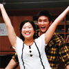 littledust: Mike and Tina, victory pose! ([glee] funny valentines)