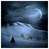 diemme: moon over winter plains (winter night)