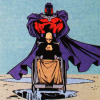 slash4femme: illustration from the comics. Magneto stands behind Charles' wheelchair (X-Men: cherik)