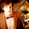 dwfiction: eleventh doctor looking up at his new tardis (Default)