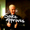 nemonclature: Spike with his thumbs up. Text: Spike approves (approved)