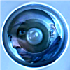 nemonclature: Shade's distorted reflection in a camera lens (wtf)