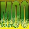 pensnest: large green MOO in the grass, bovine in corner (Moo bovine)