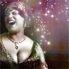 pensnest: Queen Latifah with starry background (Queen Latifah as Mama Morton)