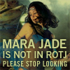 anghraine: picture of a dancer in jabba's palace; text: mara jade is not in rotj, please stop looking (mara jade [not in rotj])