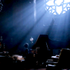 thatyourefuse: The ghost of Lucille Sharpe from Crimson Peak, at the piano, dwarfed by a rose window. ([IDMOVIE] here you're known)