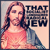 anghraine: painting of jesus; text: that socialist longhaired radical jew (jesus of nazareth [socialist])