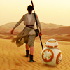 onyxlynx: Back view of Rey (Daisy Ridley) and BB-8, marching away (Determination:  Rey and BB-8)