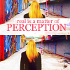 "mortalcity: Olivia Dunham. Text: ""Real is a matter of perception."" (Fringe 