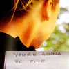 "mortalcity: Olivia Dunham. Text, handwritten: ""You're gonna be fine."" (Fringe 