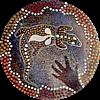 mysterie: Goanna image in aboriginal art style (goanna art)