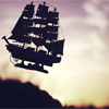 queelez: An elegant, old-fashioned schooner flying in the air (the flying ship)
