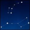 jenett: Ursa Major (the dipper) and Ursa Minor, on a deep blue background (constellation)