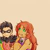 peacefully: (starfire robin - oldschool)