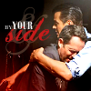 "china_shop: Post-kidnapped Russ leaning on Milt, with the text ""By your side"" (Battle Creek - By Your Side hug)"