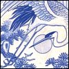 ysobel: A drawing of a flying stork (blue stork)