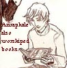 lilian_cho: Aziraphale!Draco is bent over a book (Aziraphale also worshiped books)