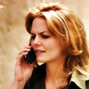 athousandsmiles: Jennifer Morrison on a cell phone. (Jenn on the phone)