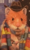 thnidu: Tom Baker's Dr. Who, as an anthropomorphic hamster, in front of the Tardis. ©C.T.D'Alessio http://tinyurl.com/9q2gkko (Dr. Whomster)