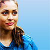 monanotlisa: Raven Reyes, part of half-profile, smirking a triumphant little smirk (raven triumphant - the 100)