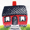 kareila: drawing of a cute red house (house)