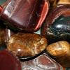 kareila: some specimens of polished tiger's eye (rocks)