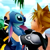 notzubats: Sora holding Stitch (stitch)