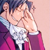 truthsnomiracle: Edgeworth grits his teeth and rubs his temple in irritation. (Why me?)
