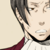 truthsnomiracle: Edgeworth glances away, looking awkward and uncomfortable. (This is awkward..., Might we please change the subject?, Um...)