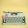 ninetydegrees: Photo: old writing machine with flowers (writing machine)