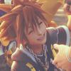 notzubats: Sora smiling (I'm back)