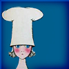 commodorified: A cartoon of a worried looking woman in a chef's hat (cooking for people who don't, Oh God What's For Dinner)