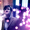 such_heights: eleven outside the TARDIS looking up at the snow (who: eleven [snow])