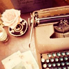 musyc: Typewriter and rose (Stock: Typewriter II)