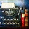 musyc: Typewriter and books (Stock: Typewriter III)