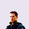 skieswideopen: Cameron Mitchell from SG-1 (SG: Cam negative space)