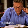 alee_grrl: Rupert Giles looking up from reading a book.  Text: bookish (giles)