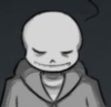 sansational: Sans with his eyes closed, patiently explaining a bad situation (Explanations explanations explations)