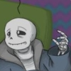 sansational: Sans, visibly exhausted and collapsed on the floor in despair (So tired of everything)