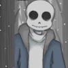 sansational: Sans with his eyesockets empty, numb and despairing (Never be happy)