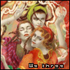 """valmora: """"we three"""" witches, meeting again (wethree) (Default)"""