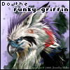 "valmora: a picture of a griffin with the caption ""do the funky griffin"" (funkygriffin)"