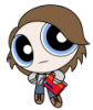 autobotden: representation of journal owner drawn in PowerPuff Girls style with big head and tiny body. (powerpuffed)