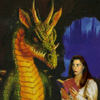 herebedragons: Me reading to a dragon (Here Be Dragons)