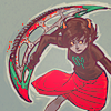 salticidae: kanaya wielding a large, crescent-shaped chainsaw (kanaya)