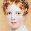 pro_patria_mortuus: a child from the early 1800s looking cherubic and cheerful and direct (kid - straightforward)