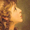 pro_patria_mortuus: a child from the late 1700s or early 1800s, with lots of curly blond hair, in profile looking up (kid - curious)